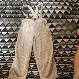 Zara Thick corded trousers with braces. Size 2/3